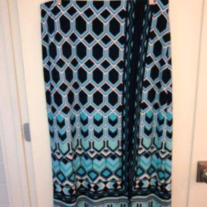 Chico's knit maxi skirt w/front slit sz 3 (16) New